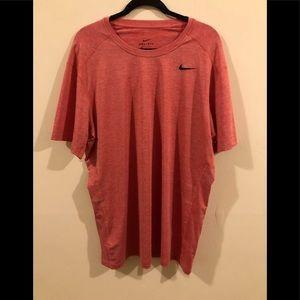 Orange Nike Workout Material T-Shirt